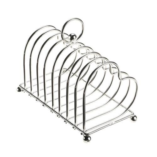 Details about Silver Plated Hearts Toast Rack 8 Slice - Gift Boxed ...