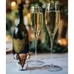 Crystal Champagne Flutes & Cork Holder by Culinary Concepts